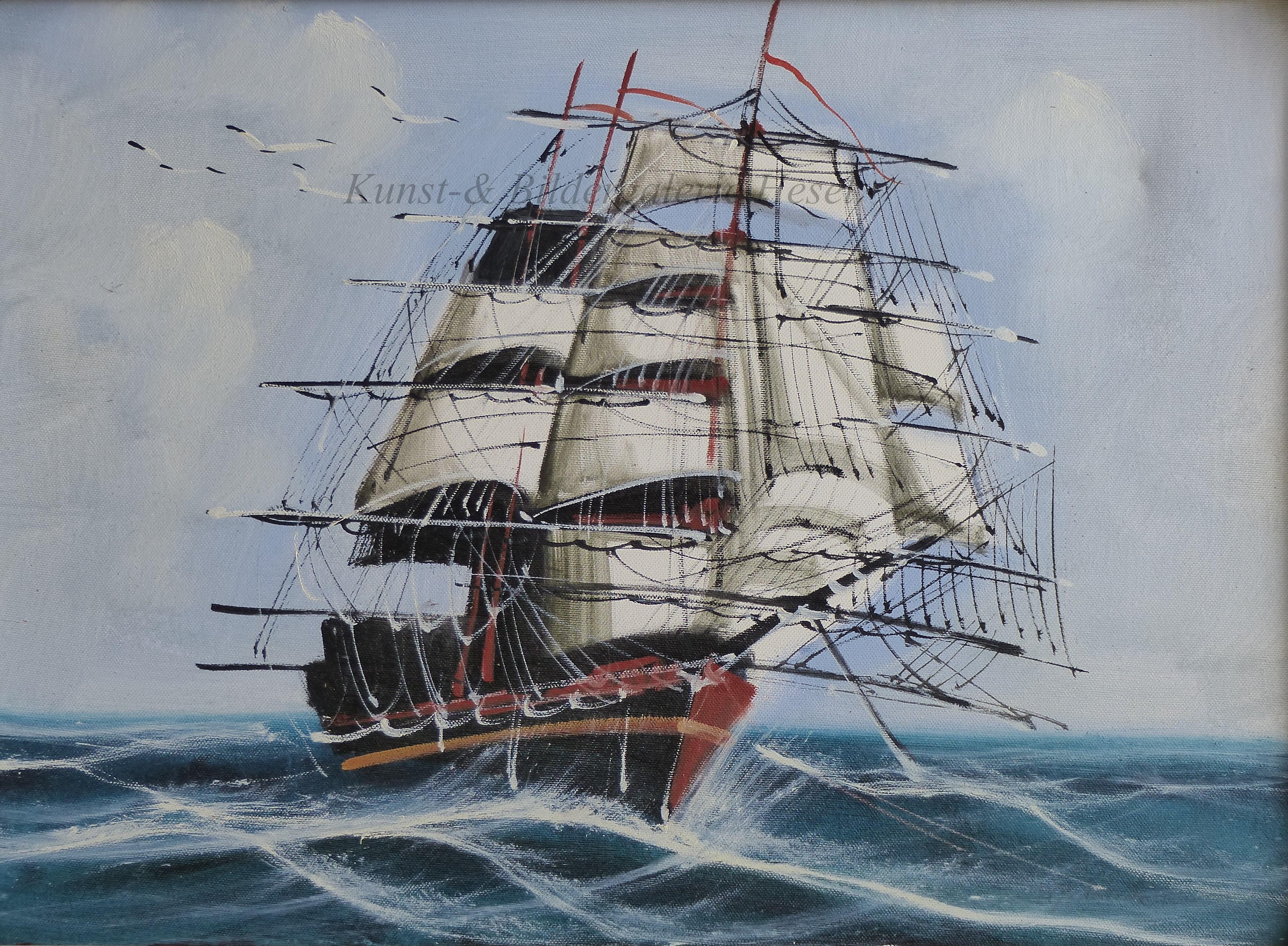 Maritime Ölbilder in der Kunst- und Bildergalerie Hesel