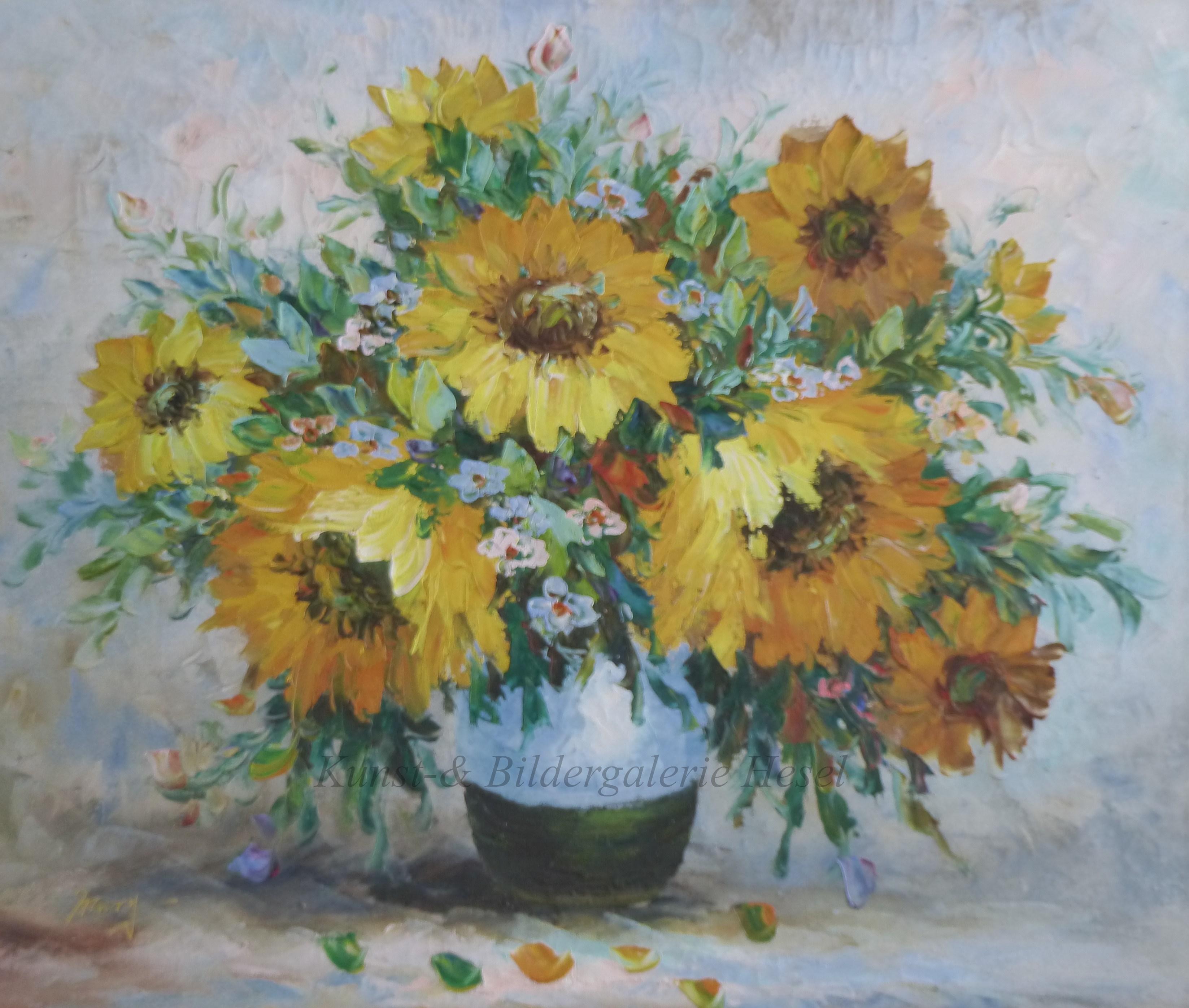 Blumenmotive in der Kunst- und Bildergalerie Hesel
