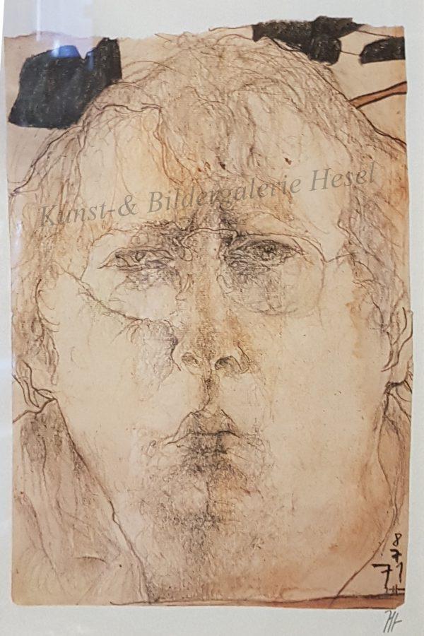Horst Janssen Selbstportrait handsigniert